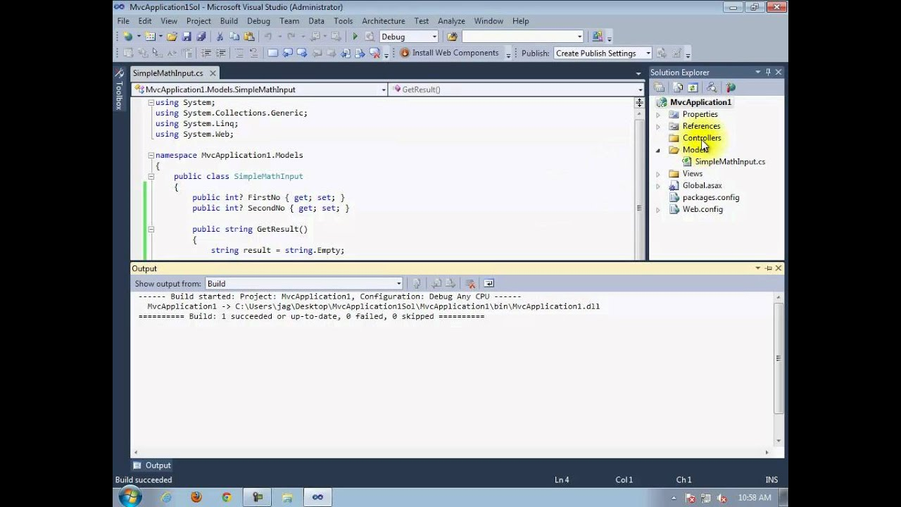 what is mvc in asp net with example