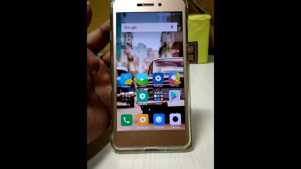 Call settings and screen settings in Xioami Redmi Mi