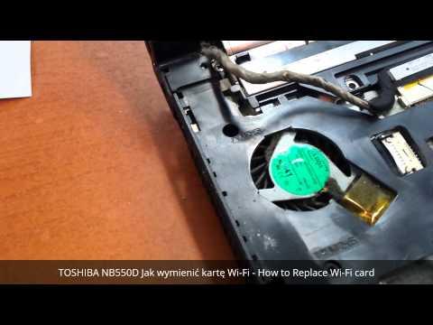 TOSHIBA NB550D Jak wymienić kartę Wi-Fi - How to Replace Wi-Fi card