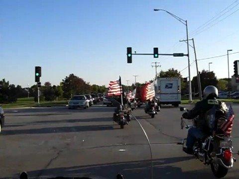 Warriors Watch Riders escort through traffic!