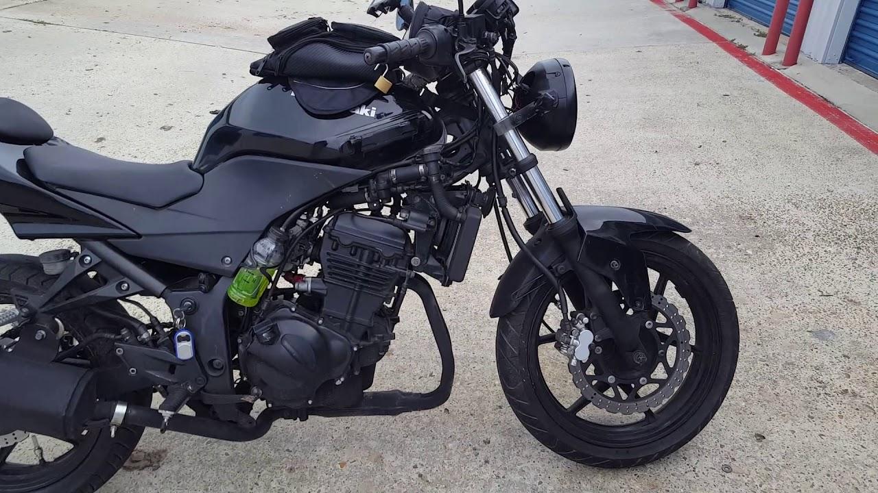 2009 Kawasaki Ninja 250r CUSTOM STREETFIGHTER EASY MODS!!!