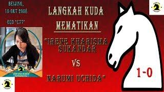 "Download LANGKAH KUDA MEMATIKAN ""Irene Kharisma Sukandar VS Narumi Uchida"" CATUR TALK INDONESIA"