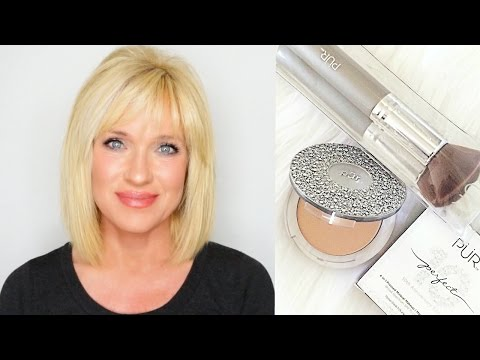Pur Cosmetics Pressed Mineral Makeup Demo & Review! Mature Skin!