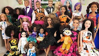 Barbie Costume Party + Halloween Jokes! Dancing and playing fun | Naiah and Elli Doll Show #6