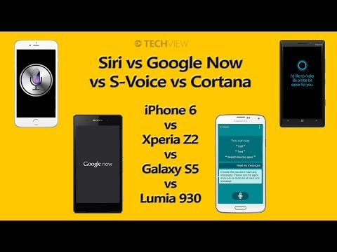 Siri vs Google Now vs S-Voice vs Cortana