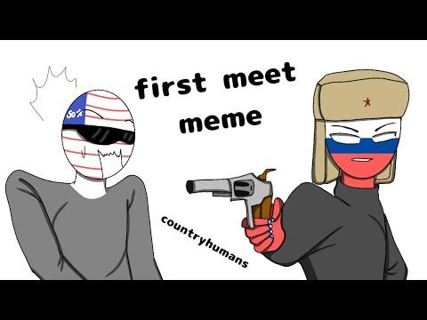Download (Countryhumans) First Meet Meme