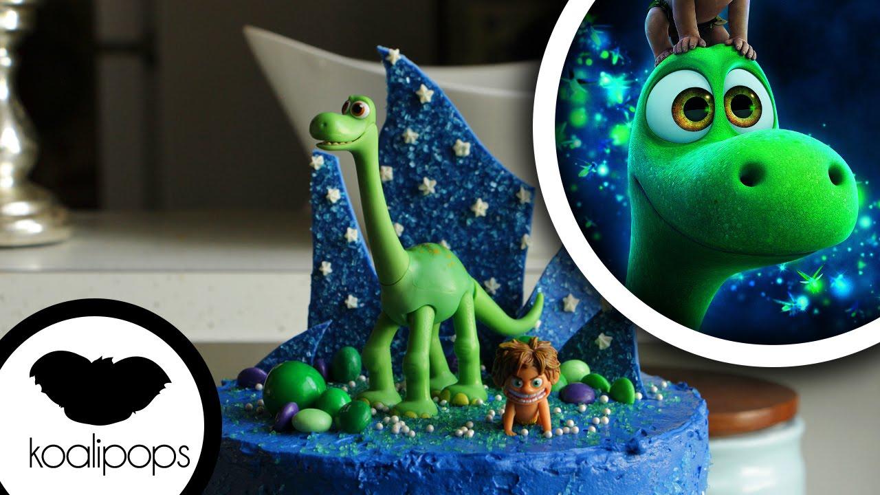 The Good Dinosaur Cake Action Figure Birthday Cake Birthday Cakes How To Youtube