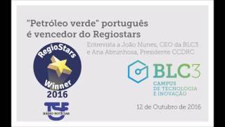 """TSF   """"Petróleo verde"""" português é vencedor do RegioStars - Entrevista a João Nunes, CEO da BLC3"""