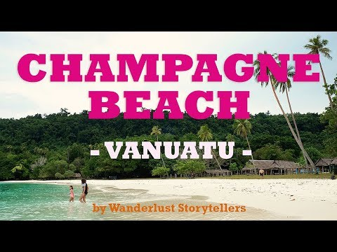 Beautiful Champagne Beach, Vanuatu on Espiritu Santo Island!