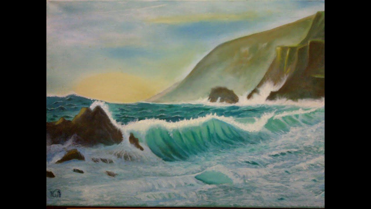 رسم طبيعه Sea Waves