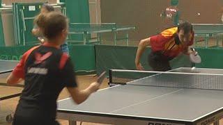 Алексей УЛАНОВ - Ольга БАРАНОВА (1/2 ФИНАЛА), Настольный теннис, Table Tennis