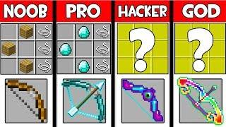 Minecraft - NOOB vs PRO vs HACKER vs GOD : SUPER BOW in Minecraft ! AVM SHORTS Animation