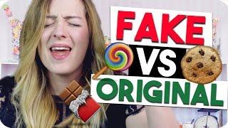 FAKE VS ORIGINAL |Ich TESTE nachgemachte SÜSSIGKEITEN | Stiftung Rockstar Test