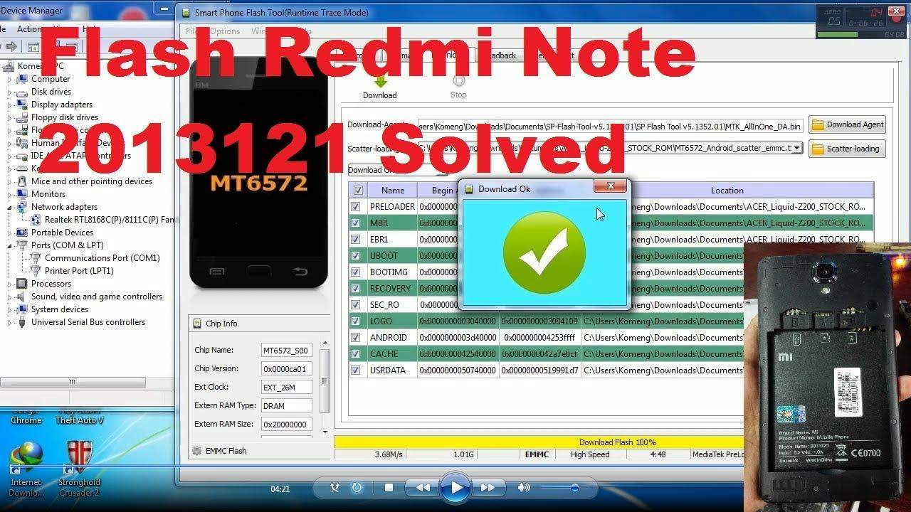 Flash Redmi Note 3g 2013121 Youtube Xiaomi White