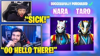 Streamers Reacts TO NEW *EPIC* 'Nara & Toro' Skins! (Fortnite FUNNY & Daily Best Moments)