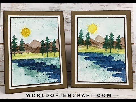 Stampin' Up! - Waterfront Watercolor Scene