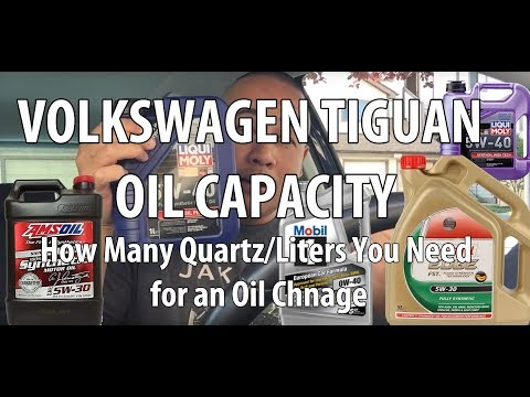VW/Volkswagen Tiguan How many quarts/liters of oil do you need during an oil change?