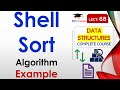 Shell Sort Explanation with Working Exam