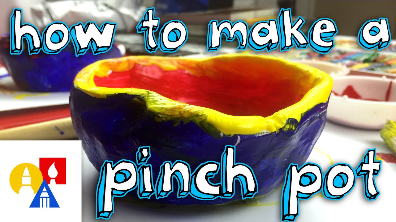 how to make a pinch pot for kids youtube