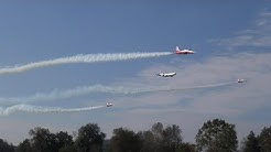 3X F-5 TIGER RC JETS PATROUILLE SUISSE AND A MD-11 SWISS TURBINE AIRLINER
