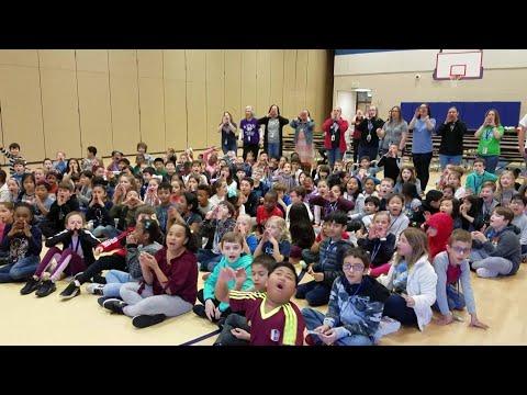 Britta visits Tom Wilson Elementary School