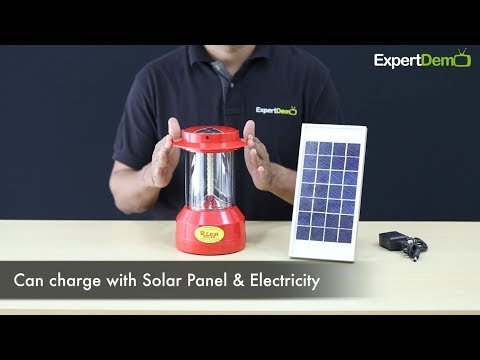 Rico Rechargeable Solar Lantern - Solar & Electricity charging