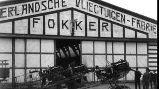Trailer Anthony Fokker.  Fokkerfabriek in Amsterdam Noord, Jaren 20