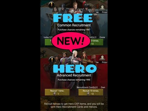 Clash Of Kings - Hero Recruitment System. FREE RARE HEROES!😱😏