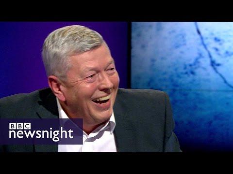 Alan Johnson on the EU : 'I'm not a swivel-eyed fanatic' -  BBC Newsnight