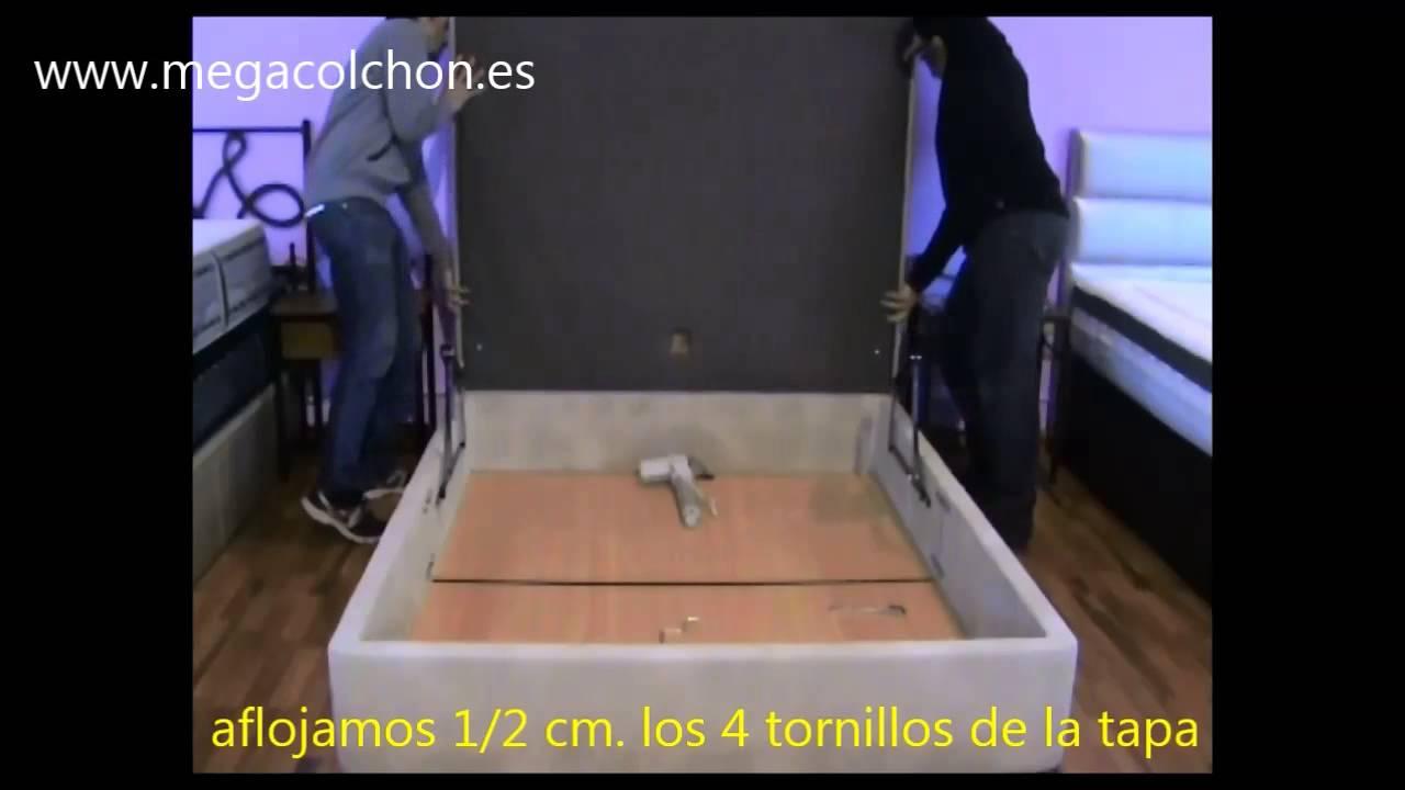 Como montar canap abatible polipiel 26cm apertura for Canape abatible ikea