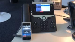 Cisco 8851 smartphone call bluetooth 8800