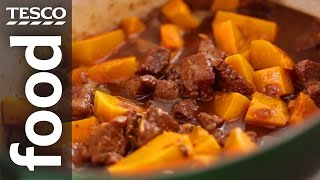 How To Make Beef Casserole With Butternut Squash | Tesco Food