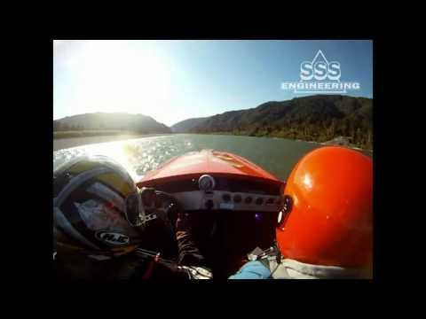2010 New Zealand Jetboat Marathon - Roll Cage footage.