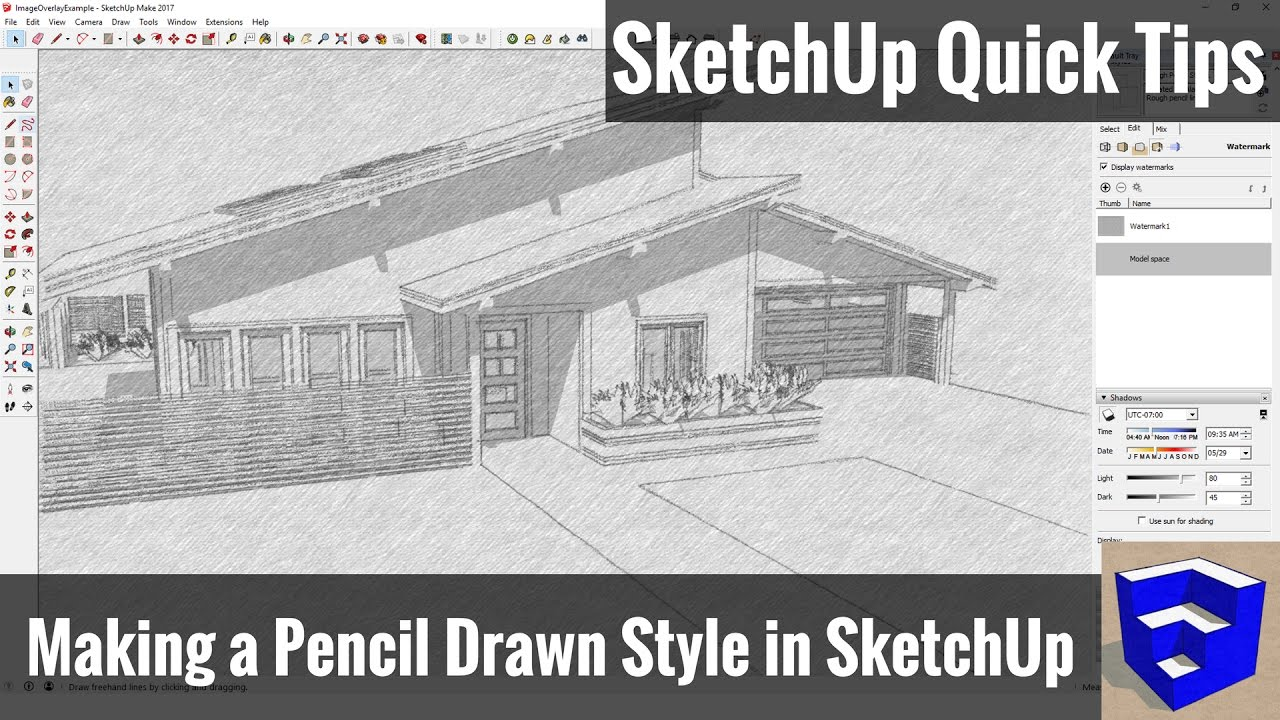 Making a pencil drawn style in sketchup sketchup quick tips