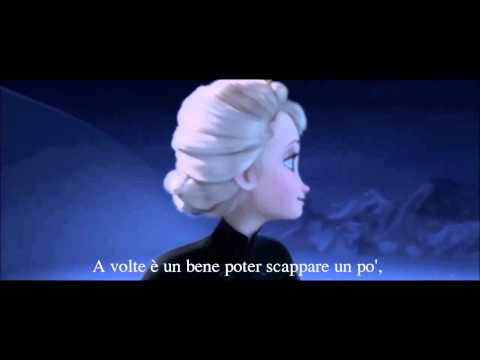 Let it Go Italian Full Version with Lyrics in HD