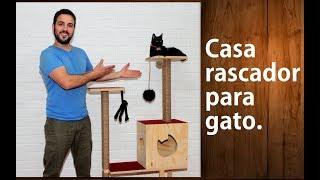 Cómo hacer un rascador para gatos Fácil y divertido (CAT HOUSE DIY)