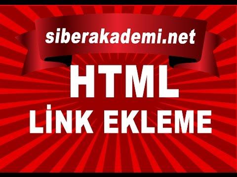 Html Link Ekleme - YouTube