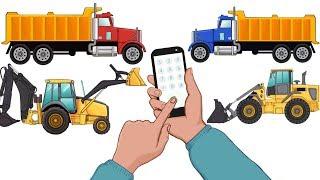 Dump Trucks, Excavator and Bulldozer build a New Garden | Vehicles for Kids - Cartoons