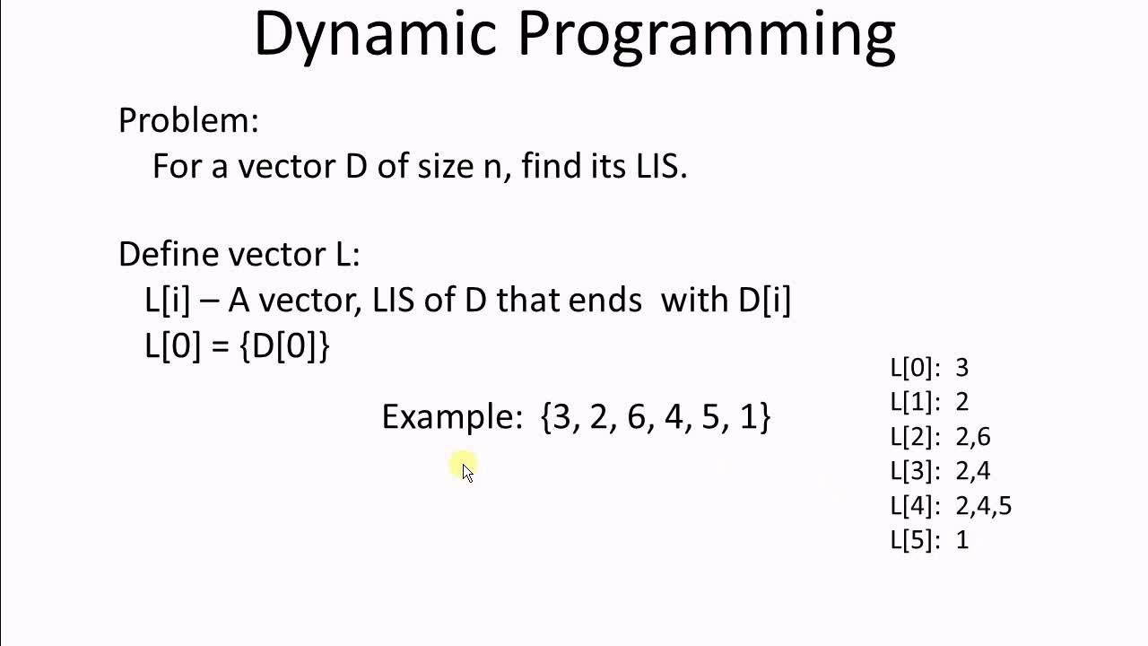 Dynamic Programming 1 Longest Increasing Subsequence Youtube