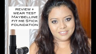 REVIEW + WEAR TEST : Maybelline New York Fit Me Shine Free Stick Foundation