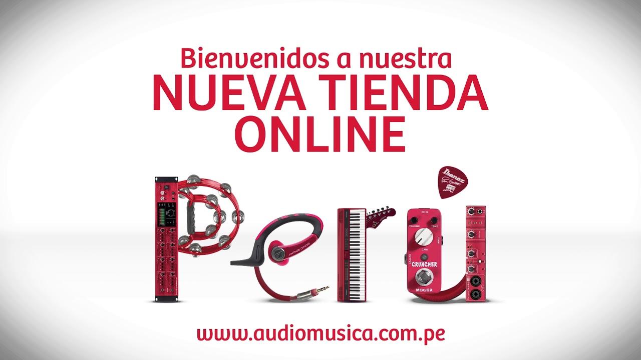 4086c4ebfb Nueva tienda online Audiomusica Perú - YouTube