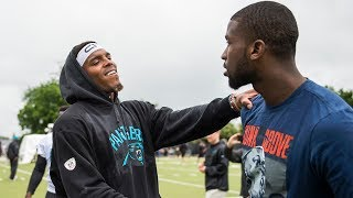 Charlotte Hornets visit Panthers during OTAs