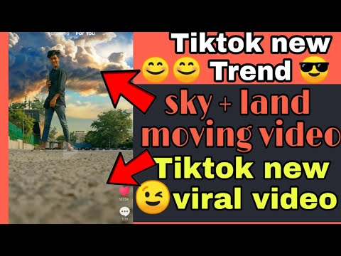 Tiktok Tutorial | sky + land moving video | New tiktok trend | trending tutorial. thumbnail