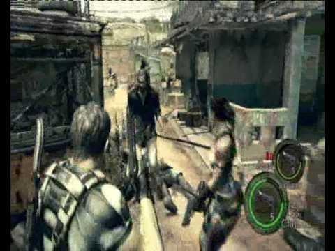 Resident Evil 5 Walkthrough - Chapter 1-1: Civilian Checkpoint - Village Fight (2-2)