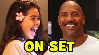 Moana Behind The Scenes With The Cast Movie B-roll Dwayne Johnson, Auli'i Cravalho