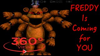 Five Nights at Freddy's 360 degree video challenge reaction | 5 FNaF SCARY Jumpscares Don't SCREAM!