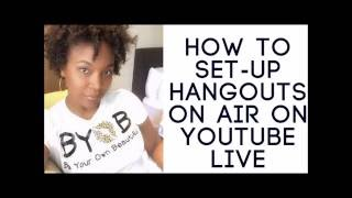 How to Setup Hangouts on Air from Youtube Live