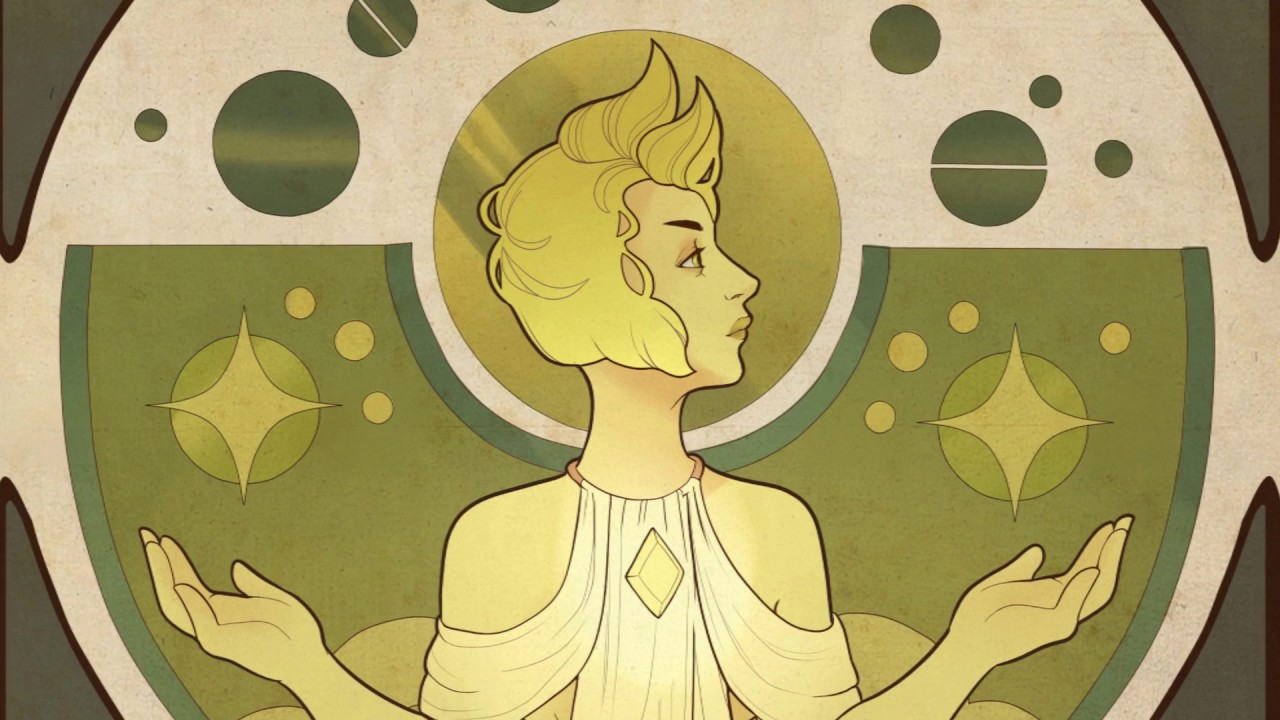 Art Nouveau Yellow Yellow Diamond Art Nouveau Mural Part 1 3