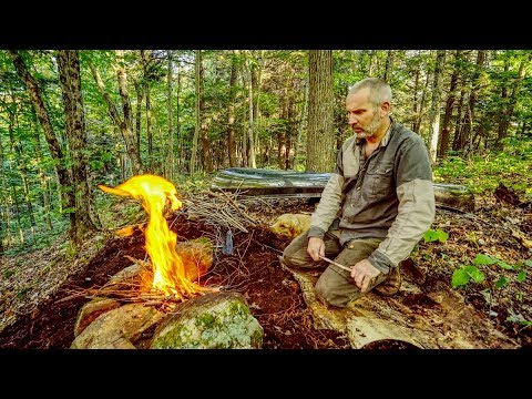 The Outpost Camp | Catch and Cook with my Dog, Cali the Gold
