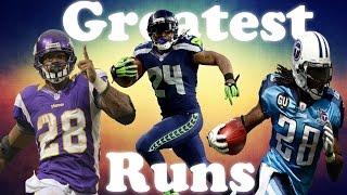 Greatest Runs In NFL History!  HD 